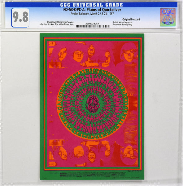 FD-53 : OPC-A : CGC 9.8 : PLAINS OF QUICKSILVER : QUICKSILVER MESSENGER SERVICE : AVALON BALLROOM : 1967