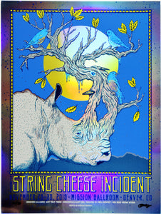 Owen Murphy String Cheese Incident Mission Ballroom - Rainbow Mirror Foil
