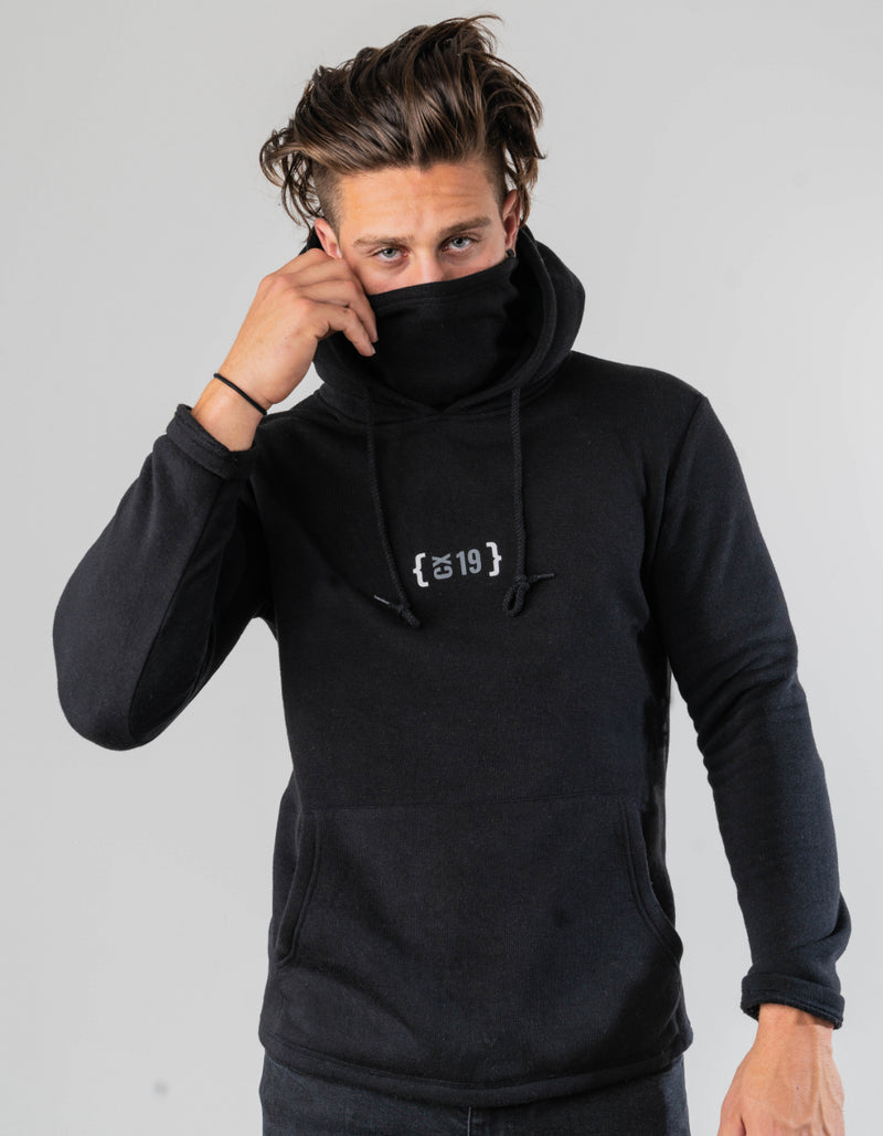 CX19 Unisex Hoodie with Built-In Face Cover