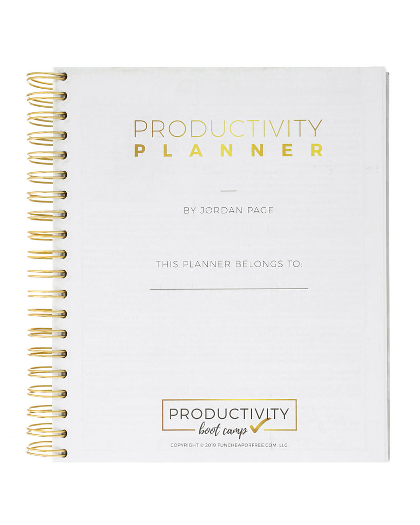6-Month Productivity Planner | Leopard