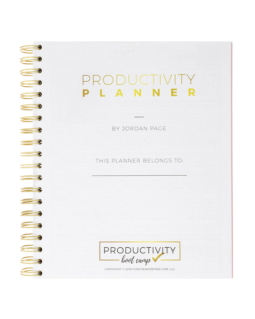 3-Month Productivity Planner | Pink Dash