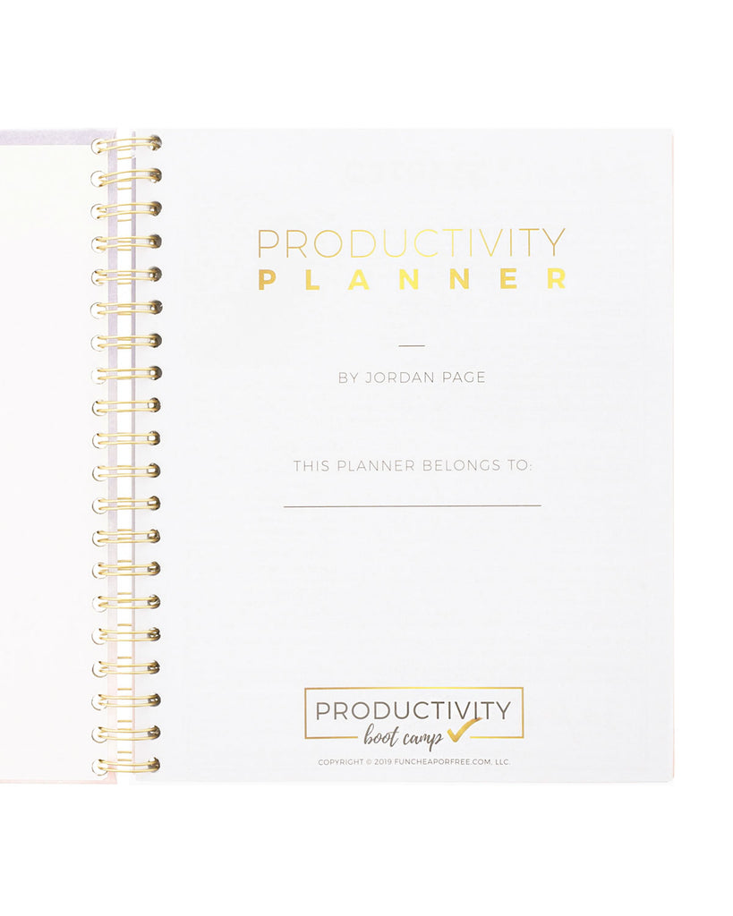 6-Month Productivity Planner | Watercolor