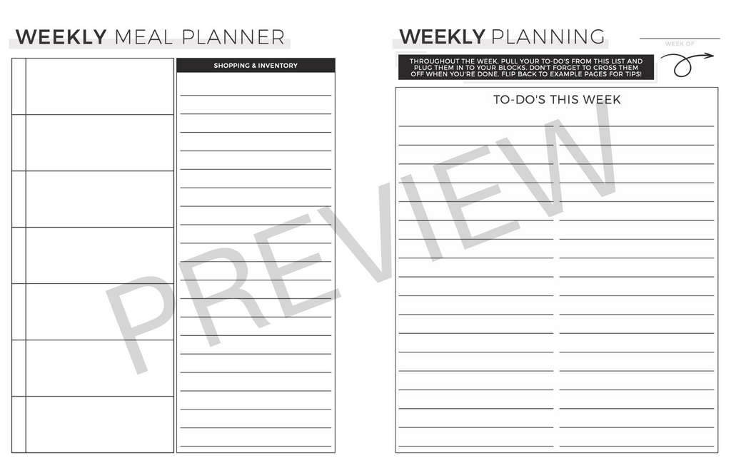 Productivity Planner Lite | Digital Download