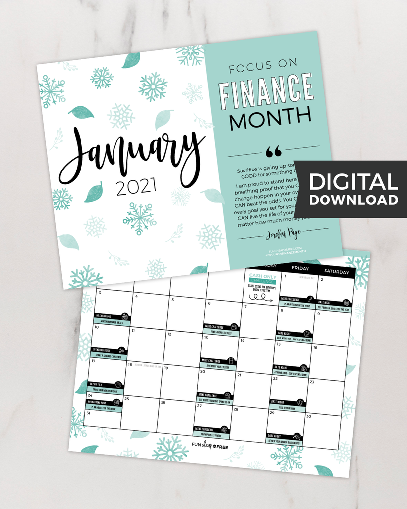 Focused In 2021 PDF Calendar + Google Events Bundle