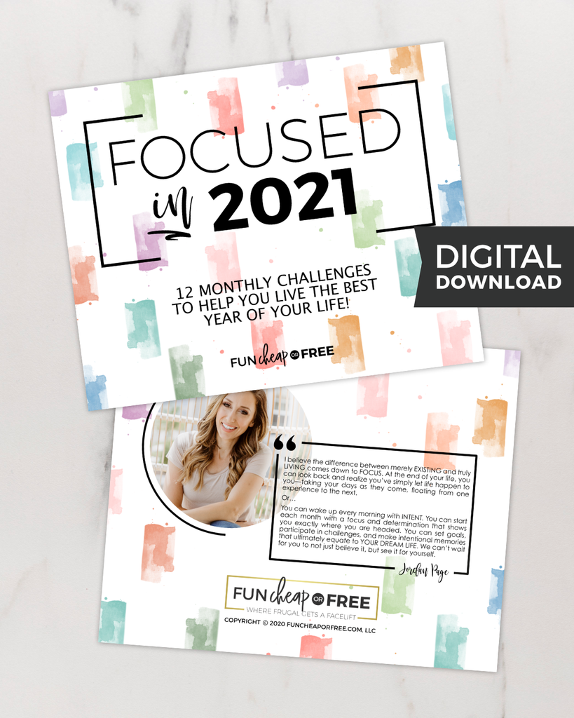 Focused in 2021 Calendar | PDF Download