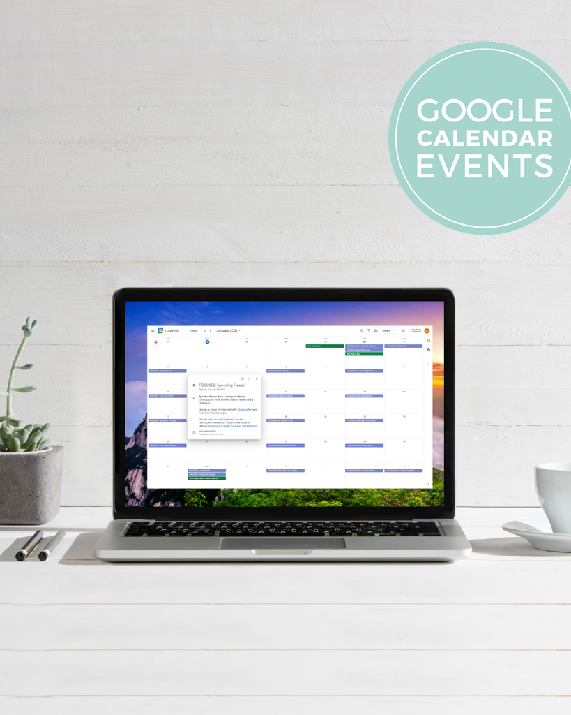 Focused In 2021 Google Calendar Events
