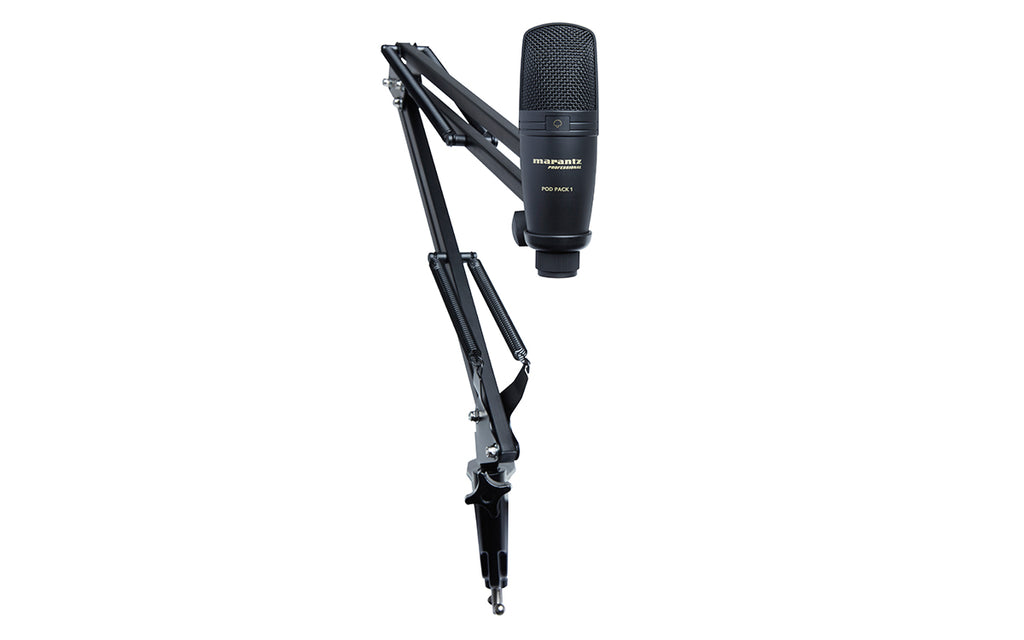 Marantz Professional Pod Pack 1 USB Microphone with Broadcast Stand and Cable