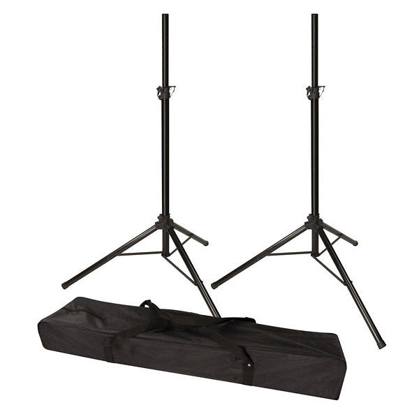 Stagg Black Tripod Speaker Stands with Bag