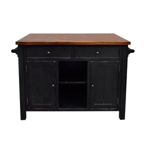 222 Fifth Atlantic Kitchen Island with Overhang - Accessories Essentials