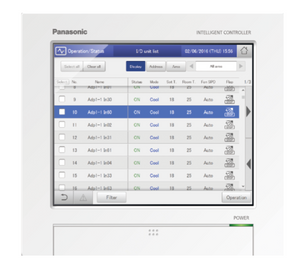 VRF Intelligent Touch Screen Controller for VRF Scheduling | Covers Entire Facility