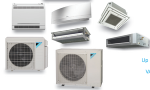 4 Ton High Efficiency HVAC | Cooling and Heating | 2 to 5 Ductless Zones |  Includes Low Ambient Cooling