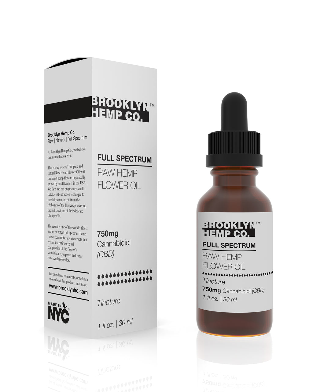 Raw Hemp Flower Full Spectrum Tincture 750mg