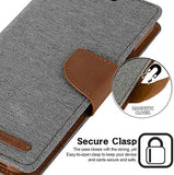 GOOSPERY Canvas Wallet for Apple iPhone 11 Pro Max Case (6.5 inches) Denim Stand Flip Cover
