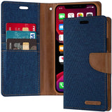 Goospery Canvas Wallet for Apple iPhone 11 Pro Case (5.8 inches) Denim Stand Flip Cover (Black) IP11PRO-CAN-BLK