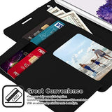 Goospery Rich Wallet for Samsung Galaxy S20 Case (2020) Extra Card Slots Leather Flip Cover (Black) S20-RIC-BLK