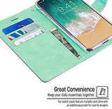 Goospery Blue Moon Wallet for Apple iPhone Xs Case (2018) iPhone X Case (2017) Leather Stand Flip Cover