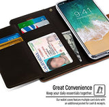 Goospery Rich Wallet for Apple iPhone Xs Case (2018) iPhone X Case (2017) Extra Card Slots Leather Flip Cover