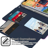 Goospery Rich Wallet Case for iPhone 12 Mini (5.4 inches) Extra Card Slots Leather Flip Cover