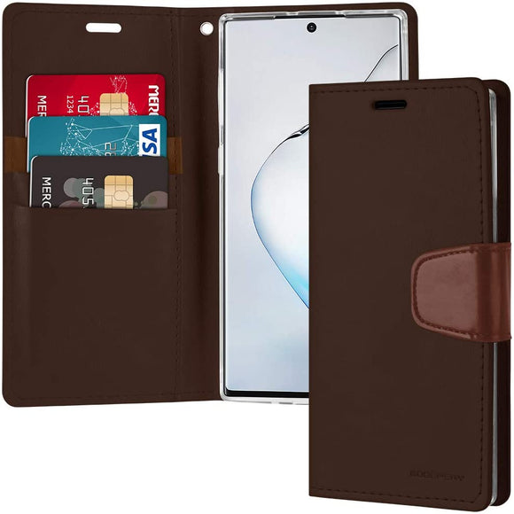 Goospery Sonata Wallet for Samsung Galaxy Note 10 Case (2019) Leather Stand Flip Cover