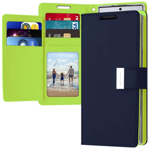 Goospery Rich Wallet for Samsung Galaxy Note 10 Plus Case (2019) Extra Card Slots Leather Flip Cover
