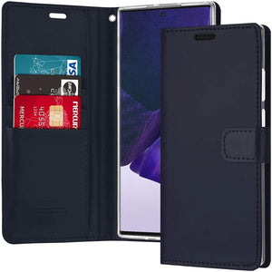 Goospery Blue Moon Wallet for Samsung Galaxy Note 20 Ultra Case (2020) Leather Stand Flip Cover
