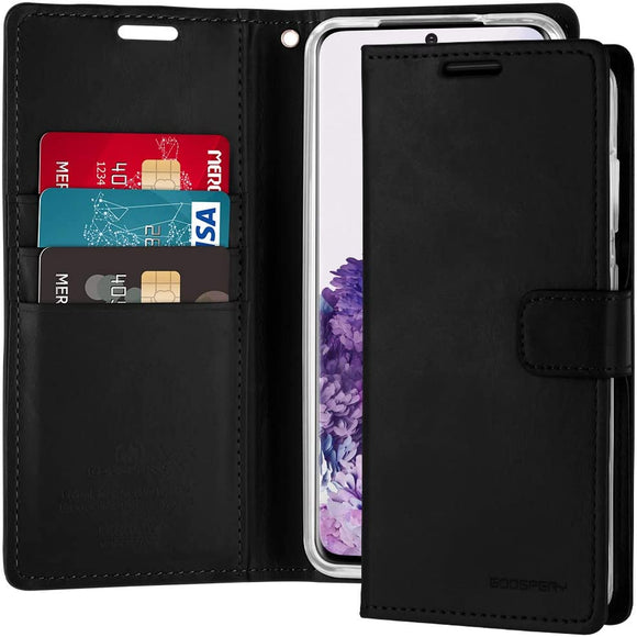Goospery Blue Moon Wallet for Samsung Galaxy S20 Case (2020) Leather Stand Flip Cover (Black) S20-BLM-BLK