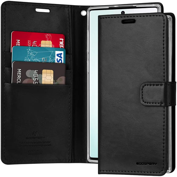 Goospery Blue Moon Wallet for Samsung Galaxy Note 10 Case (2019) Leather Stand Flip Cover