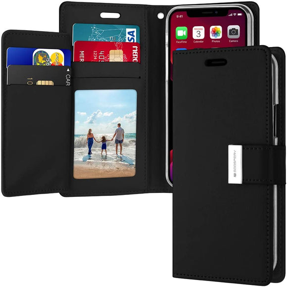 Goospery Rich Wallet for Apple iPhone 11 Pro Case (5.8 inches) Extra Card Slots Leather Flip Cover