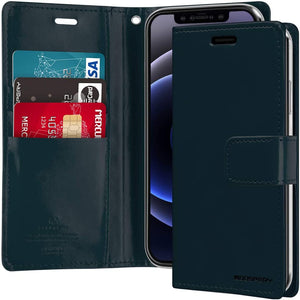 Goospery Blue Moon Wallet Case for iPhone 12 Mini (5.4 inches) Leather Stand Flip Cover