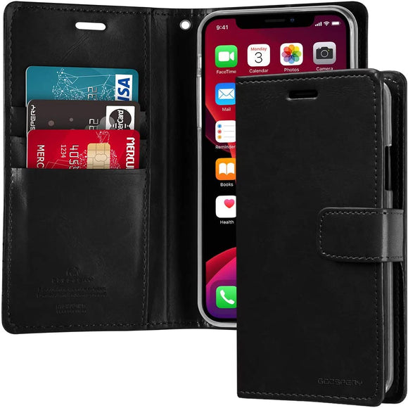Goospery Blue Moon Wallet for Apple iPhone 11 Pro Case (5.8 inches) Leather Stand Flip Cover (Dark Navy) IP11P-BLM-NVY