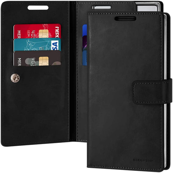 Goospery Mansoor Wallet for Samsung Galaxy Note 10 Case (2019) Double Sided Card Holder Flip Cover