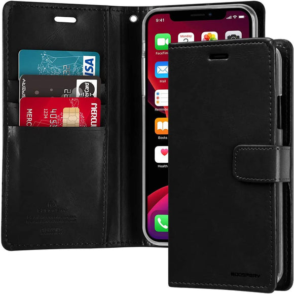 Goospery Blue Moon Wallet for Apple iPhone 11 Pro Max Case (6.5 inches) Leather Stand Flip Cover