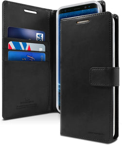 Goospery Blue Moon Wallet for Samsung Galaxy S9 Case (2018) Leather Stand Flip Cover (Black) S9-BLM-BLK