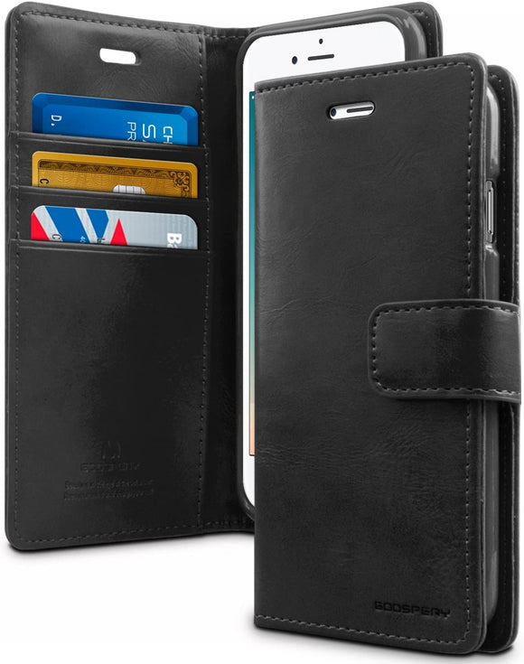 Goospery Blue Moon Wallet for Apple iPhone 8 Case, iPhone 7 Case, Leather Stand Flip Cover