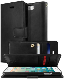 Goospery Mansoor Wallet for Apple iPhone 8 Plus Case (2017) iPhone 7 Plus Case (2016) Double Sided Card Holder Flip Cover