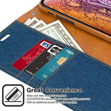 GOOSPERY Canvas Wallet for Apple iPhone Xs Max Case (2018) Denim Stand Flip Cover