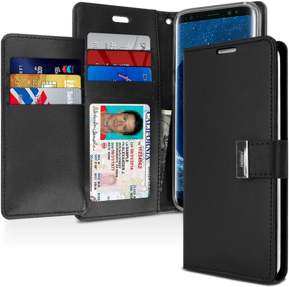 Goospery Rich Wallet for Samsung Galaxy S9 Plus Case (2018) Extra Card Slots Leather Flip Cover