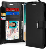 GOOSPERY iPhone Xs Case, iPhone X case [Drop Protection] Rich Diary [ID/Card & Cash Slots] Premium PU Leather Wallet Case [Magnetic Closure] Flip Cover for Apple iPhone Xs/X (Rich Black)