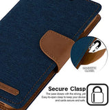 Goospery Canvas Wallet for Apple iPhone 11 Case (6.1 inches) Denim Stand Flip Cover