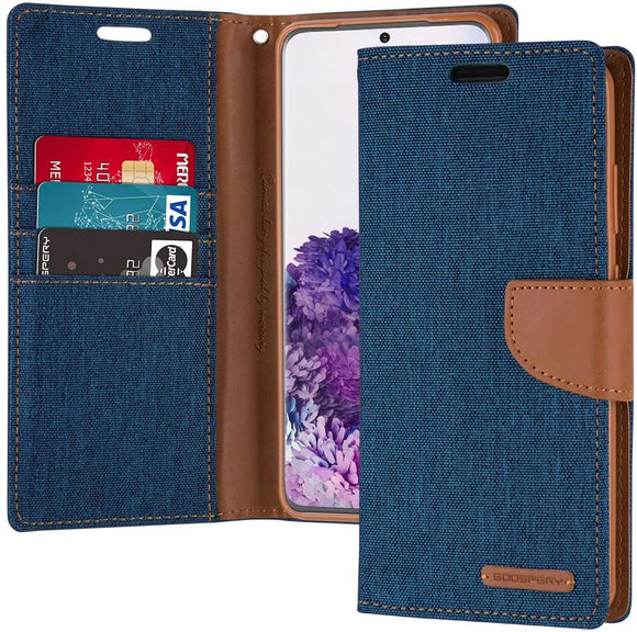 Goospery Canvas Wallet for Samsung Galaxy S20 Plus Case (2020) Denim Stand Flip Cover (Gray) S20P-CAN-GRY