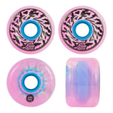 Santa Cruz Slime Balls Wheels Transparent Pink Swirl 65mm
