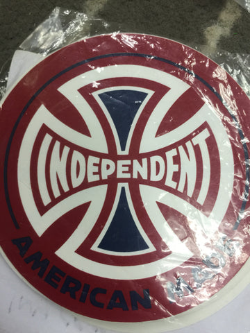 Indepednent Cross Solid Color Sticker