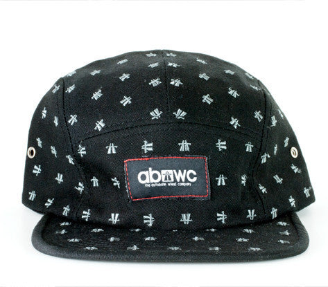Autobhan Camper Cap 5 Panel - Dots Limited Edition Black Hat