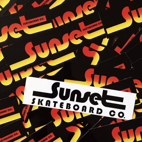 Sunset Skateboard Stickers