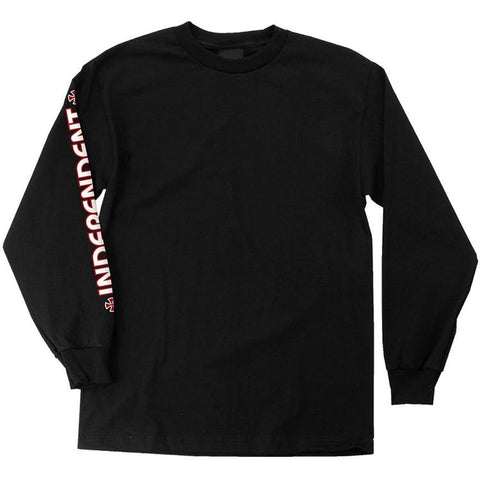 Independent Bar Cross Long Sleeve Shirt Black