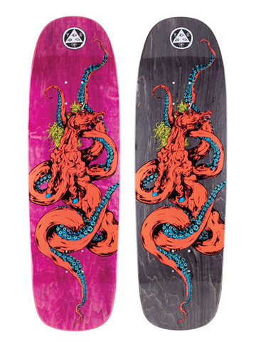 Welcome Seahorse 2 On Golem Deck - Coral/Various Stains 9.25""