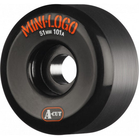 Mini Logo Skateboard Wheels A-cut 51mm 101a Black