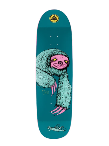 Welcome Sloth on Atheme Deck - Deep Teal 8.8""