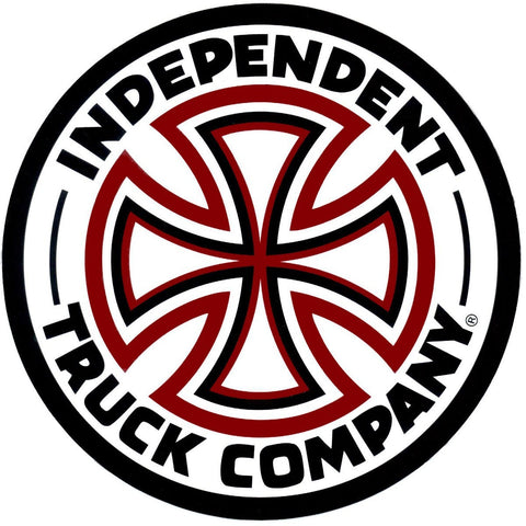 Independent Red/White Cross Sticker 3""