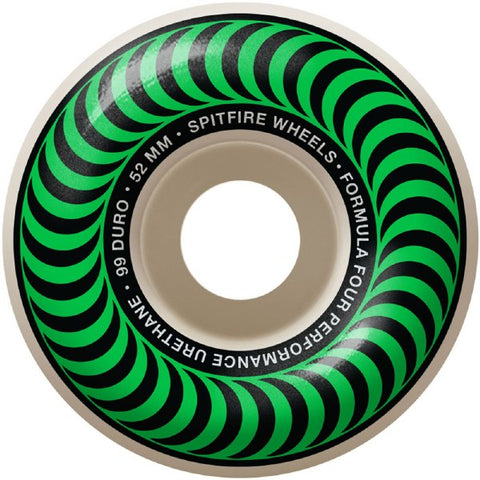 Spitfire Wheels Formula 4 Classic Green 52mm 99a